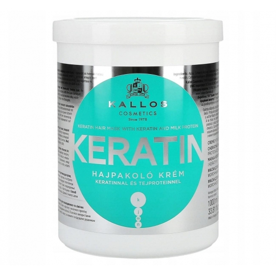 Kallos KJMN Keratin Keratynowa maska do włosów 1L - 1