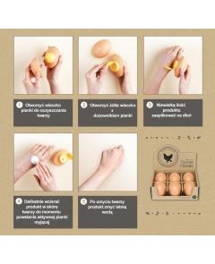 Holika sleek egg skin cleasing foam - pianka do twarzy 140 ml (beige)