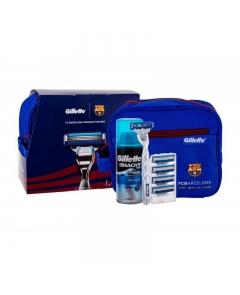 Gilette zestaw mach3 turbo+5 wkładów+kosmetyczka