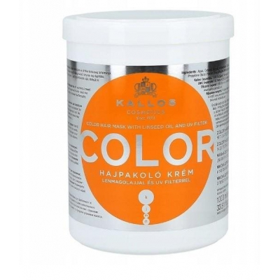 KALLOS KJMN COLOR maska do włosów farbowanych 1000 ML - 1