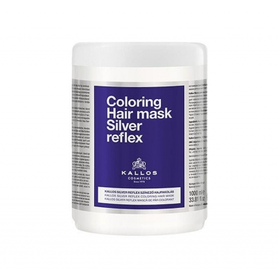 KALLOS Coloring Hair mask SILVER REFLEKS  DO WŁOSÓW SIWYCH I BLOND 1000 ML - 1