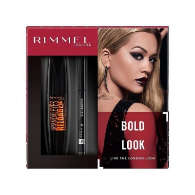 RIMMEL ZESTAW BOLD LOOK TUSZ + KREDKA DO OCZU 12ML - 1