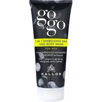 KALLOS gogo 2 in 1 ENERGIZING HAIR AND BODY WASH FOR MEN 200 ML - 1