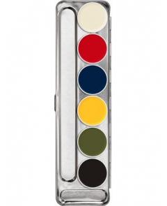 KRYOLAN Rubber Mask Palette 6 colors farba do gumy