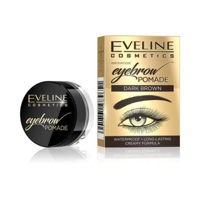 EVELINE POMADA DO BRWI DARK BROWN WODOODPORNA - 1