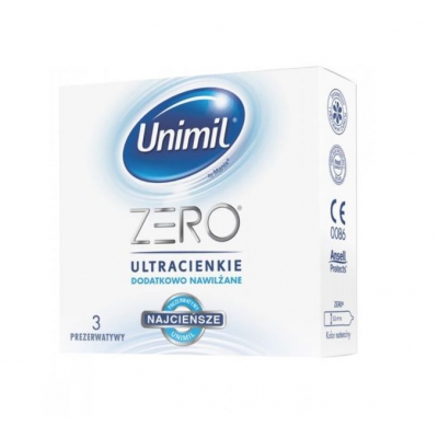 UNIMIL Zero lateksowe prezerwatywy 3 szt. - 1