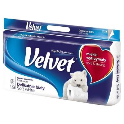 Velvet Delikatnie Biały Papier toaletowy 8 rolek - 1