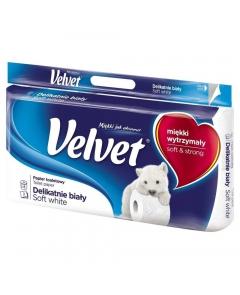 VELVET Papier toaletowy biały 8 rolek