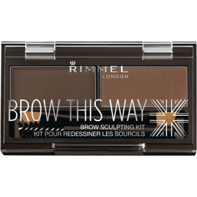 Rimmel Brow This Way Brow Sculpting Kit, Medium Brown - 1