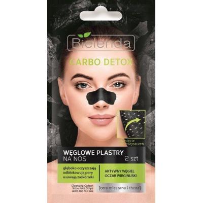 Bielenda Carbo Detox Czarny Węgiel Plastry oczyszczające na nos - 1