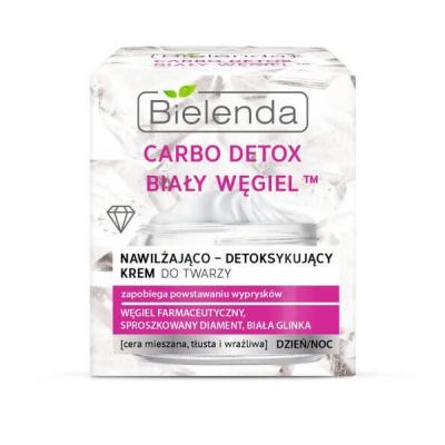 Bielenda Carbo Detox Biały Węgiel Krem nawilżająco-detoksykujący - 1