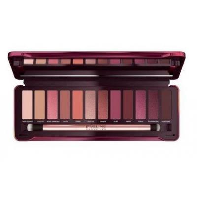 Eveline Cienie do powiek 12 kolorów Ruby Glamour - 1