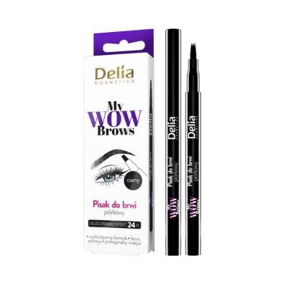 Delia Piórkowy pisak do brwi My Wow Brows czarny - 1