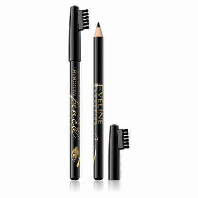 Eveline Eyebrow Pencil Kredka Do Brwi Czarna - 1