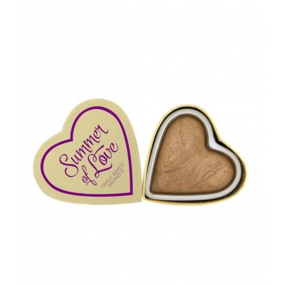 Makeup Revolution Hearts Wypiekany bronzer do twarzy Summer of love - 1