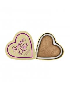 Makeup Revolution Hearts Wypiekany bronzer do twarzy Summer of love