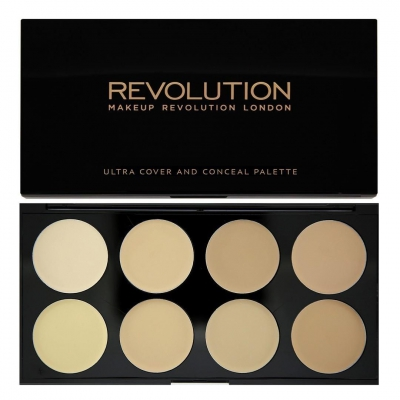 Makeup Revolution Ultra Cover and Conceal Palette Paleta korektorów LIGHT - 1
